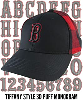40c32ae3 Your Custom Personalized Black and Red 3D Puff Monogram Embroidery on an  Adjustable Stylish Baseball Cap
