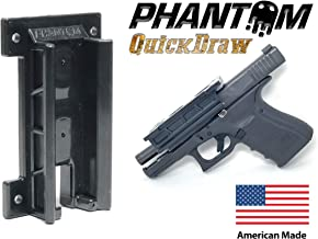 Phantom Quickdraw - Magnetic Gun Mount & Holster - Concealed Tactical Firearm & Gun Magnetic Holder for Truck, Car, Vehicle, Handgun, Pistol - Patent Pending, American Made, Veteran Owned