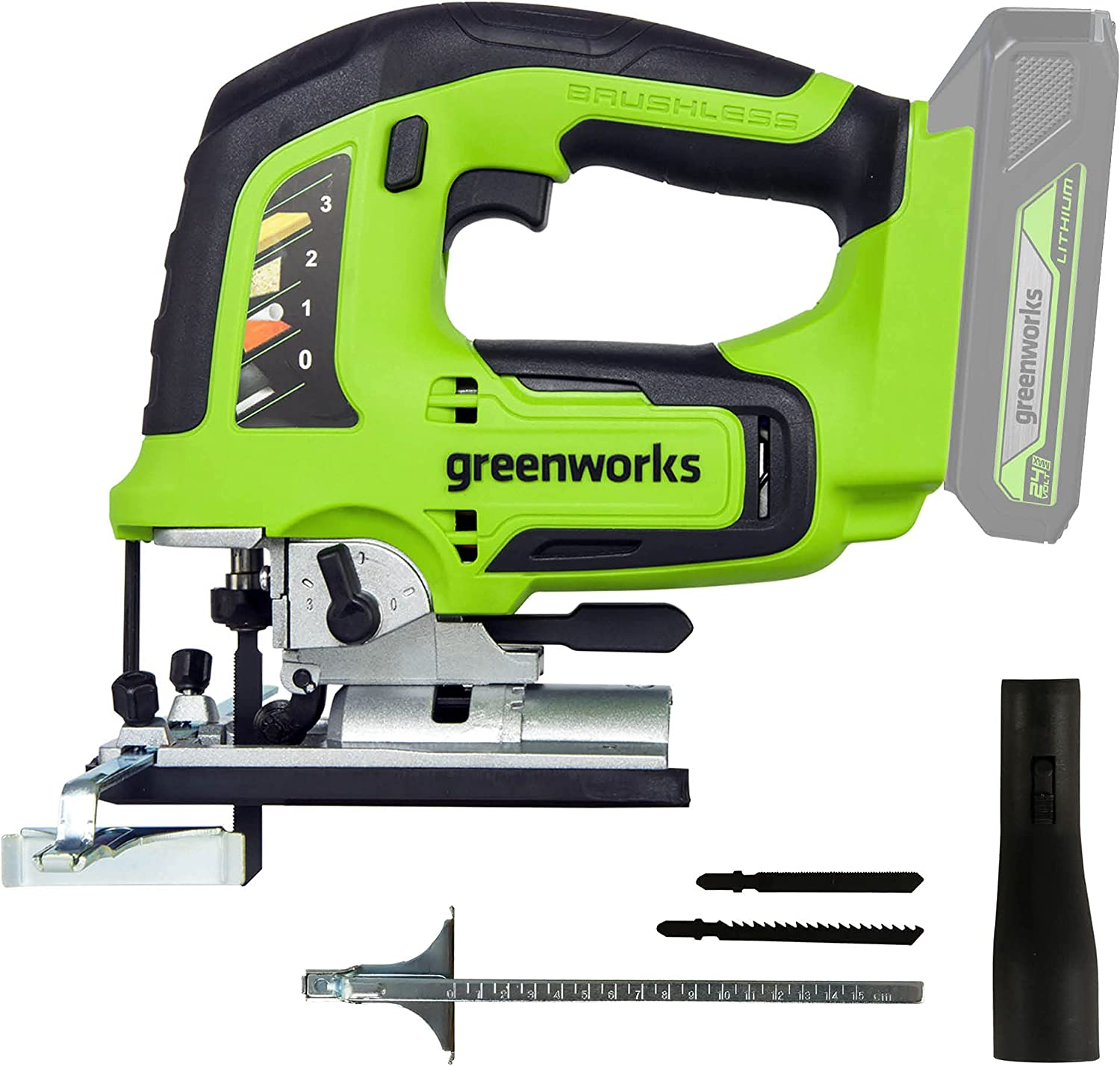 Greenworks Ranking TOP10 24V Brushless Jig Saw Included JS24L00 Battery Not Ranking TOP1