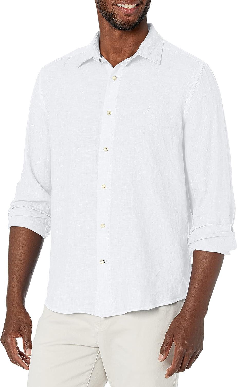Nautica Men's Classic Fit Long Sleeve Linen Shirt
