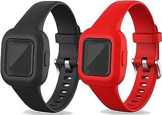 Ruentech Juego de 2 pulseras de repuesto compatibles con Garmin Vivofit JR.3 Kids de silicona