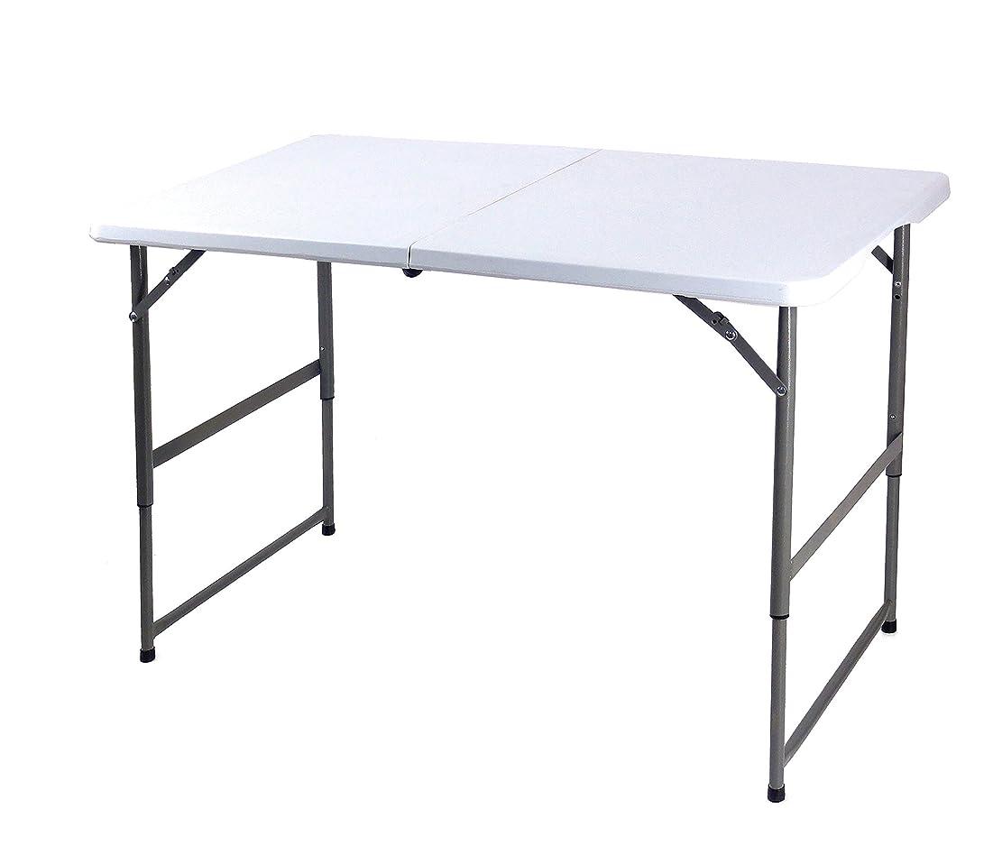 虫クライストチャーチ窓天板が強化プラスチックの折りたたみ作業テーブル 長さ120cm×奥行60cm