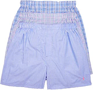 Polo Ralph Lauren Men`s Classic Fit Cotton Woven Boxers 3 Pack