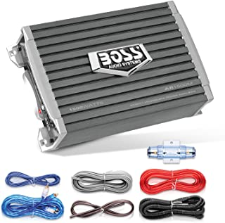 BOSS Audio Systems AR1500MK Car Amplifier and 8 Gauge Wiring Kit - 1500 Watts Max Power, 2/4 Ohm Stable, Class AB, Monoblo... photo