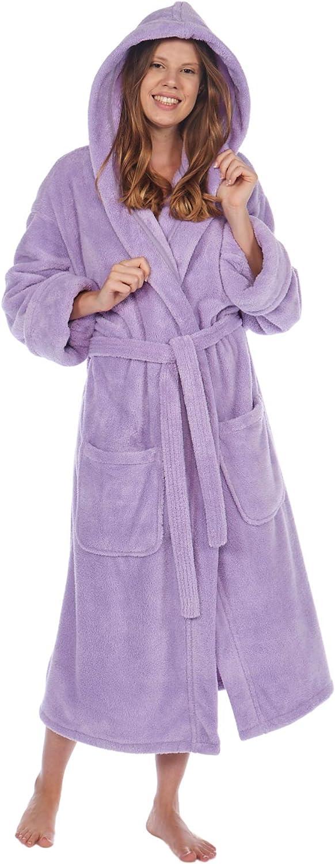 TurkishTowels Luxurious Sacramento Mall Women's Hooded Soft Bathr Fleece Under blast sales Plush