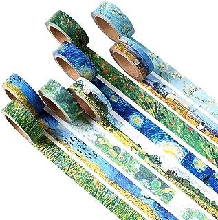 PiniceCore Nastri 4 Pezzi a Caso Washi DIY Pittura del Van Gogh di Carta Nastro Adesivo Nastri Adesivi Decorativi Scrapboo...
