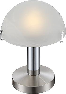GLOBO LIGHTING 21934 Globo Lampe de table, Verre, 3 W, Blanc