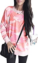 womens pink camo sweatshirt