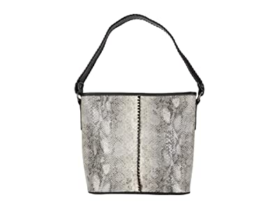 M&F Western Python Large Shoulder Bag (Grey/Black Python Print) Handbags