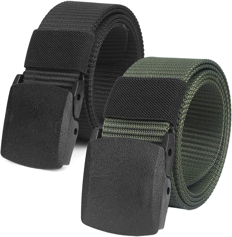 Chalier Cinturón Táctico Militar Ajustable Cintura Hombres Lona Nylon Hebilla Plástica