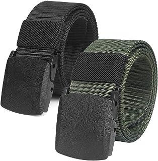 comprar comparacion 2 Piezas Cinturón Táctico Militar Ajustable Cintura Hombres Lona Nylon Hebilla Plástica