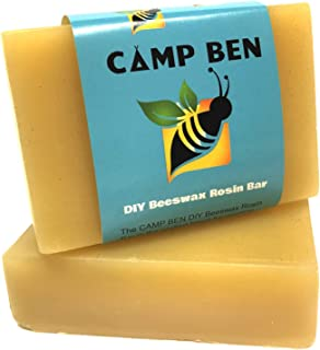 CAMP BEN DIY Beeswax Rosin Bar - Create Your Own Food or Sandwich Wraps and Snack Bags - Pine Resin - All Natural Food Safe - Do It Yourself Cloth Clings Storage Wrapping - Replace Plastic and Foil