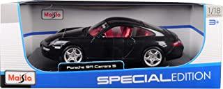 Porsche 911 Carrera S Metallic Bluish Gray with Red Interior 1/18 Diecast Model Car by Maisto 31692