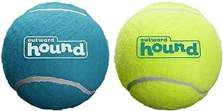 Outward Hound Squeaker Ballz Squeaky Tennis Balls Large Size 2pk