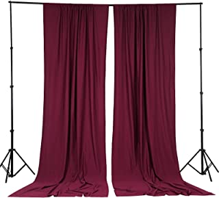BalsaCircle 10 ft x 10 ft Burgundy Polyester Photography Backdrop Drapes Curtains Panels - Wedding Decorations Home Party Reception Supplies