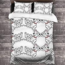 Parure de lit 3D avec Housse de Couette et taie d'oreiller Parure de lit avec Housse de Couette en Dalmatie Taille (220x24...