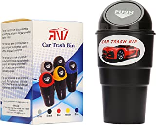 ARNV CTB-BLK Portable Mini Car Trash Bin (Black)