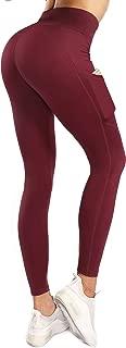 Sweetaluna High Waist Workout Leggings for Women with Pockets,Tummy Control Training Yoga Pants