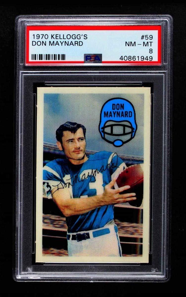 1970 Kellogg's # 59 Don Maynard Card Special Campaign PS Superior New Jets Football York