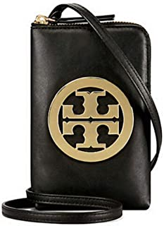 Tory Burch Charlie Mini Phone Cross body Case Women's Leather Handbag 52863 (Black)