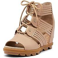 Deals on Sorel Womens Joanie II Lace Huarache Wedge Sandal