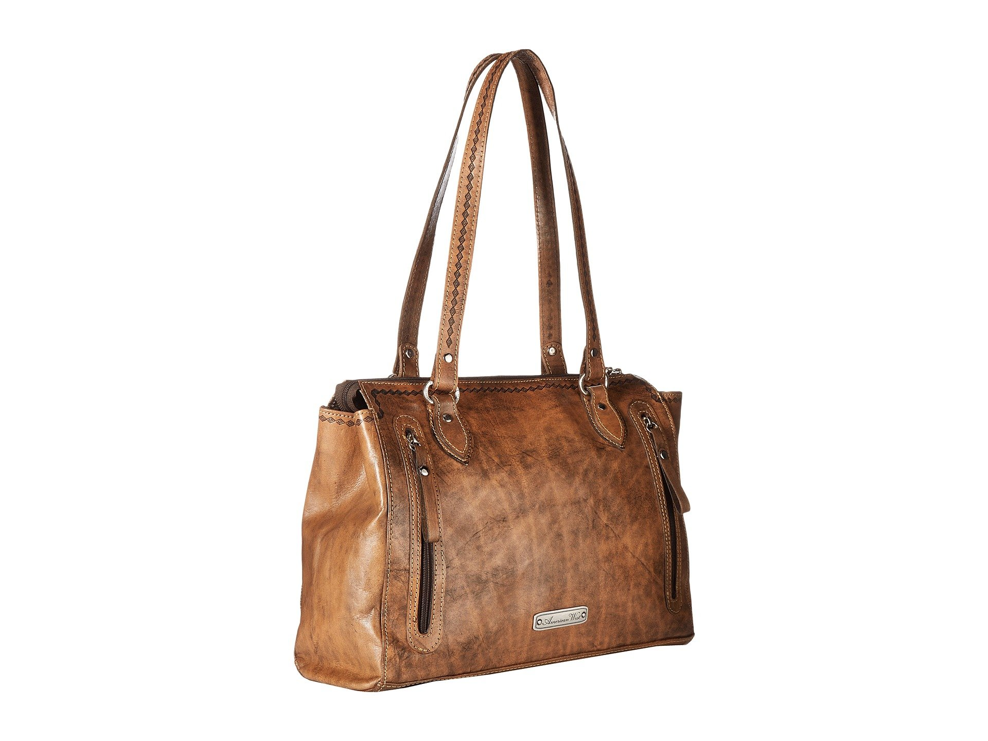 American Secret sand W West golden turquoise Tan Charcoal Compartment Native Distressed Brown Zip Tote Top Sun 1x1rU0gw