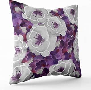 Shorping Zippered Pillow Covers Pillowcases 20X20 Inch Christmas Silver Gray Floral Decorative Throw Pillow Cover,Pillow Cases Cushion Cover for Home Sofa Bedding
