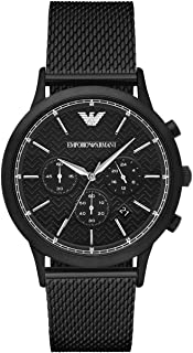 Emporio Armani Mens Quartz Watch, Analog Display and Stainless Steel Strap AR2498