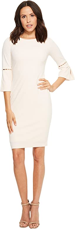 Sheath Dress with Slit Sleeve and Pearl Detail CD8C14LF