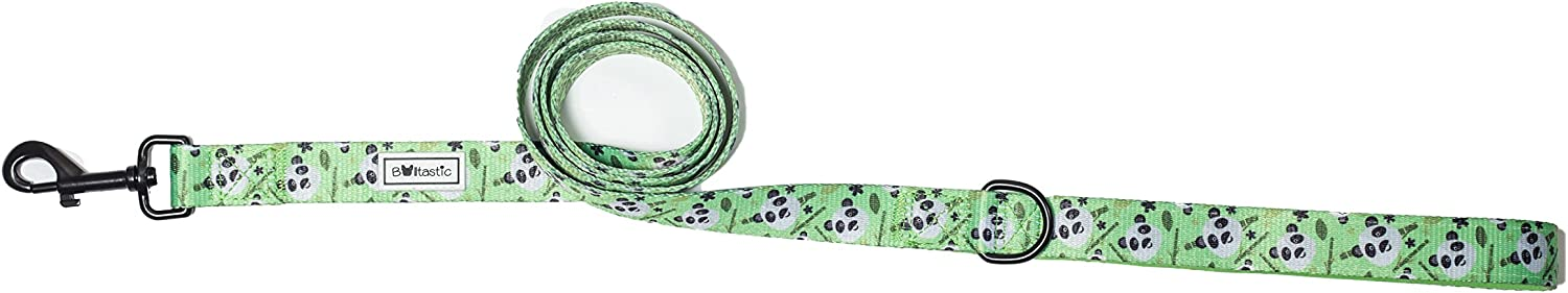 Bulltastic Panda Dream Dog Leash  Premium Quality Polyester and Neoprene  Convenient DRing  Universally Compatible