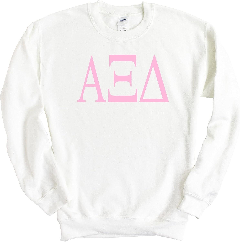 AXID Alpha Xi Delta Very Pink Sorority Crewneck Sweatshirt