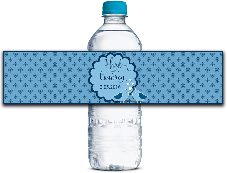 Kleber Wasserdicht Kundenspezifische Hochzeits-Aufkleber Personalisierte Wasserflasche Labels 8  x 2  Zoll - 50 Etiketten B01A0W1TRU    Ästhetisches Aussehen