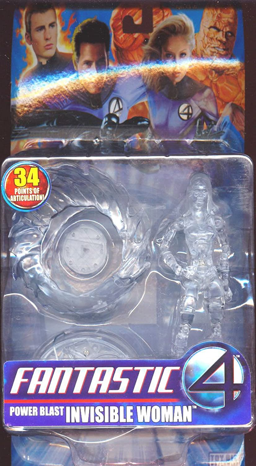 Marvel Fantastic 4 Power Blast Invisible Woman Set Of 3 Figures