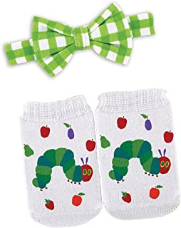 Stephan Baby Eric Carle The Very Hungry Caterpillar Bow Tie and Bootie Socks Gift Set, 3-12 Months