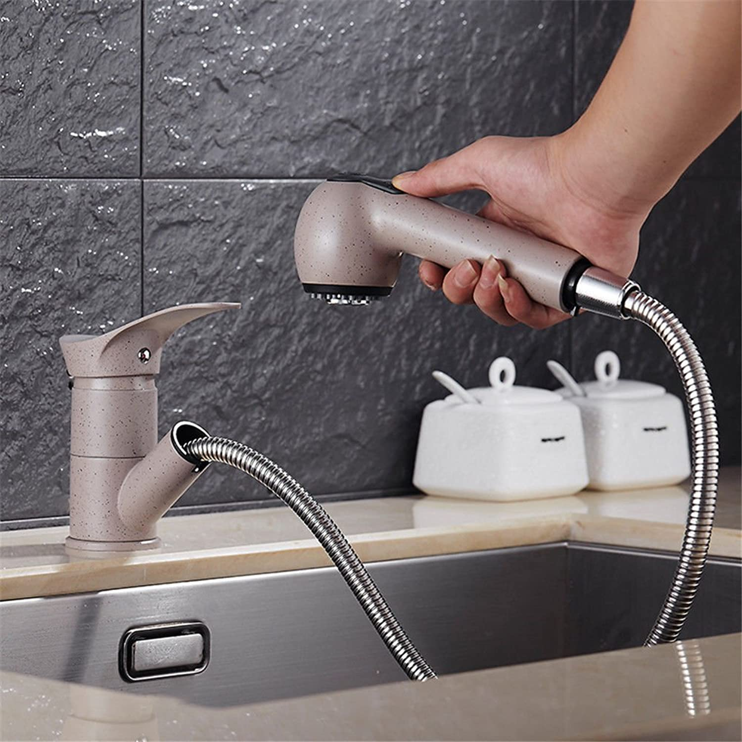 ETERNAL QUALITY Bathroom Sink Basin Tap Brass Mixer Tap Washroom Mixer Faucet Kitchen faucet granite dish washing basin-copper-accessible drop-down cold water blasting oa