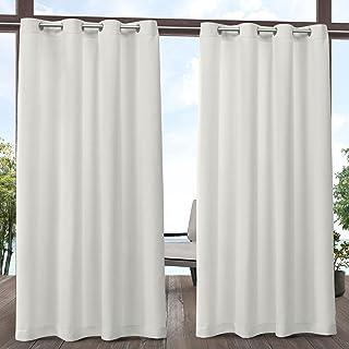 Exclusive Home Curtains Delano Grommet Top Panel Pair, Vanilla, 54x96, 2 Piece