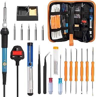 eWINNER Soldering Iron Kit, 60W Adjustable Temperature Electrical Welding Tools, Including Welding Gun, 5pcs Soldering Tip...