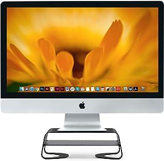 Twelve South Curve Riser Monitor Stand | Ergonomic desktop stand with storage shelf for iMac and Displays, matte black