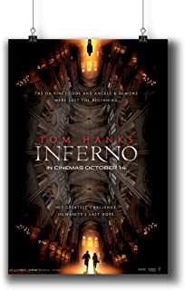 Inferno (2016) Movie Poster Small Prints 1008-001,Wall Art Decor for Dorm Bedroom Living Room (A4|8x12inch|21x29cm)