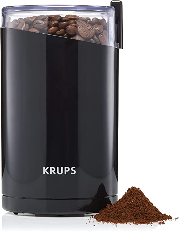 KRUPS 1500813248 203 Electric Spice and Coffee Grinder with Stainless Steel Blades