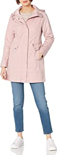 Women's Back Bow Packable Hooded Rain Jacket