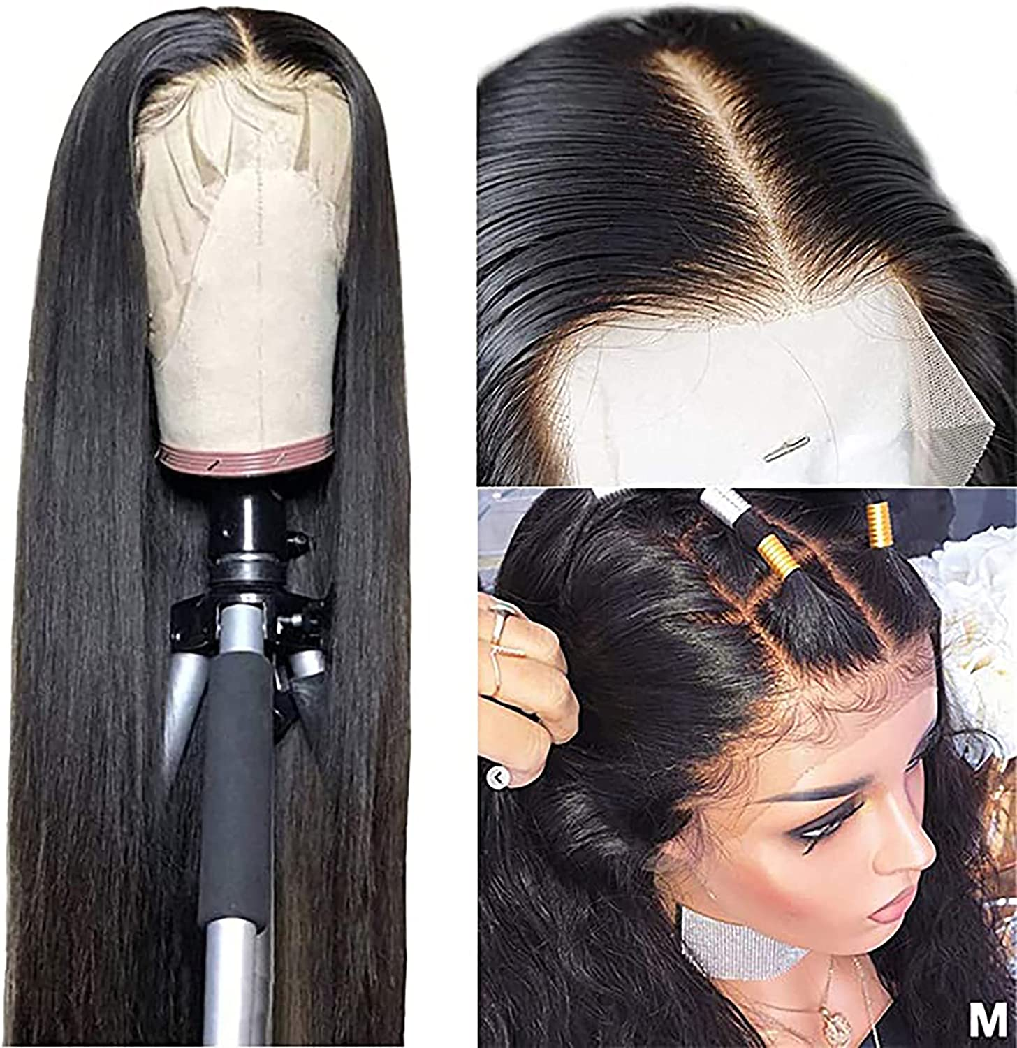 Popular shop is the lowest price challenge GETD Peruvian Max 52% OFF Straight Lace Front Fro Plucked Pre 13x4 Wigs