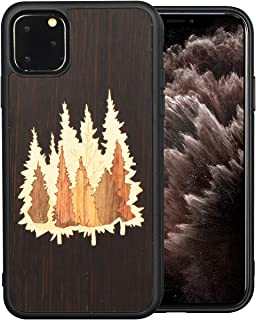 Mr.Artisan (iPhone 11 Pro Max) Wooden Natural Unique Real Wood Grain Inlay. Protective Slim Back Cover. Supports Wireless Charging. Included Screen Protector …