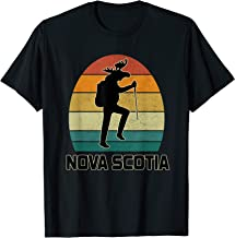 Funny Moose Nova Scotia Climbing Hiking Mountain T-Shirt