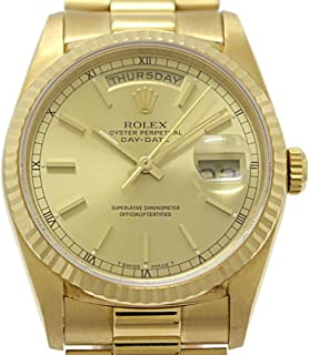 Rolex Day-Date Mechanical (Automatic) Champagne Dial Mens Watch 18238 (Certified Pre-Owned)