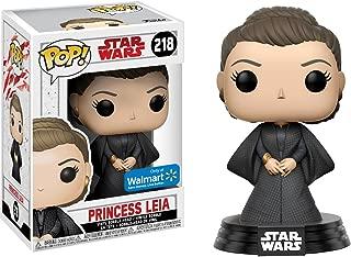 Funko Princess Leia (Walmart Exclusive) POP! x Star Wars - The Last Jedi Vinyl Figure + 1 Official Star Wars Trading Card Bundle [#218]