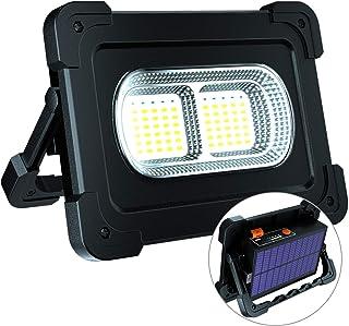 Portable LED Work Light, ErayLife Rechargeable Solar Floodlight with USB Port/4 Lighting Modes, Emergency Work Lamp Job si...