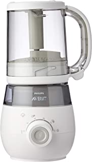 Philips Avent 4-in-1 Healthy Baby Food Maker for Steaming/Blending/Defrosting/Reheating with Weaning Advice and Recipes, 1...