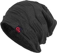 Janey&Rubbins Winter Thick Knit Fur Lining Beanie Hat Skull Cap