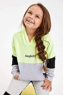 DeFacto Kız Çocuk Regular Fit Kapşonlu Sweatshirt